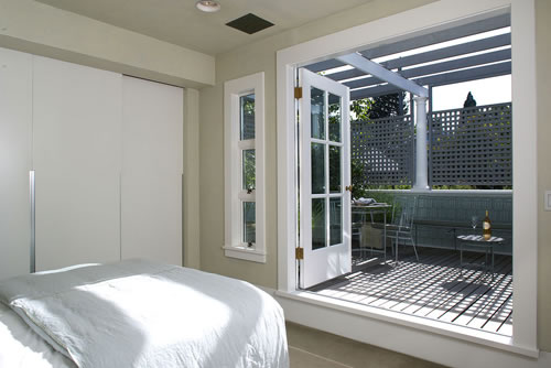 Redesigned Bedroom with Deck and Arbor